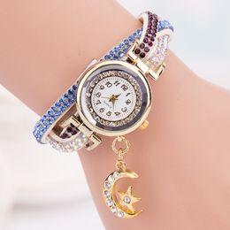 Wholesale Girls Wrist Bands - Wholesale- Luxury Brand 2015 New Hot Girls Analog Wrap Wrist Watch Womens Band Wave Bracelet Dial Casual Quartz Watches