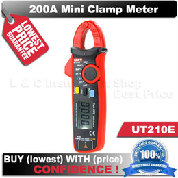 Wholesale T Clamps - True RMS UNI-T UT210E Mini Clamp Meters digital ammeter dc voltimetro amperimertro UNI T UT 210E dc multimeter clamp