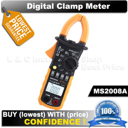 Wholesale Multimeter Fluke - Free shipping HYELEC better than Mastech MS2008A equal to FLUKE F302 alicate Multimetro multimeter clamp meters 2000 Counts