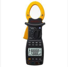 Medidor de grampo rms on-line-HYELEC MS2203 de Alta Sensibilidade de 3-Fase LCD Profissional Clamp Meter Fator de Potência Correcção USB True-RMS 4 Fios De Teste