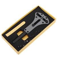 Wholesale Waterproof Watch Case Opener - New Arrival Waterproof Screw Case Back Opener Watch Repair tool Steel Watch Back Case Opener Kit Remover Hot sale