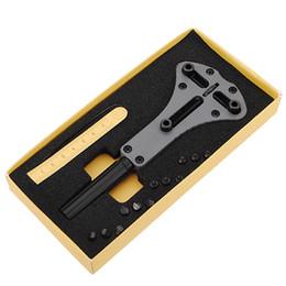 Wholesale Steel Tool Case - New Arrival Waterproof Screw Case Back Opener Watch Repair tool Steel Watch Back Case Opener Kit Remover Hot sale