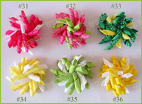 mix color icyblue 50ps 2. 5'' korker hair bows(SEW ones) kork...