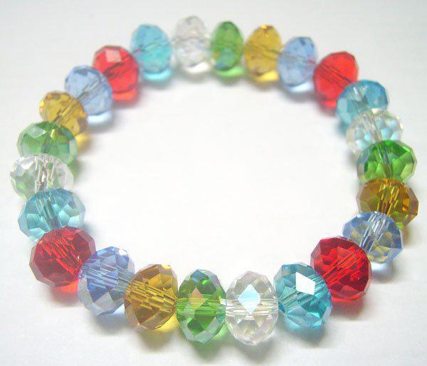 I monili elastici dei braccialetti del cristallo di rocca dei branelli di cristallo sfaccettati / i monili di modo del mestiere di DIY Gfit liberano il trasporto CR23