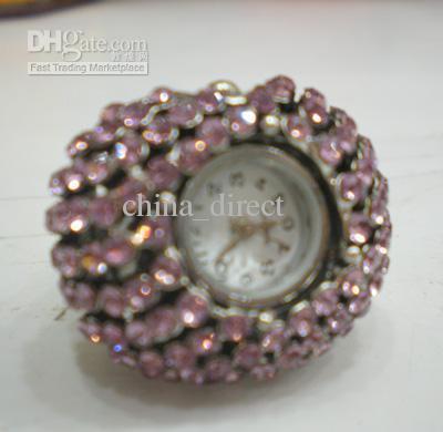 Женщины леди палец кольцо часы мода дизайн ювелирных изделий 30 шт./лот