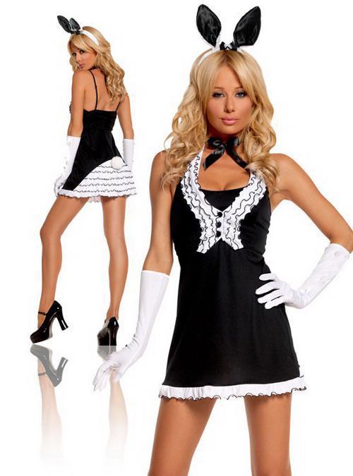 see larger image - Halloween Costume Playboy Bunny