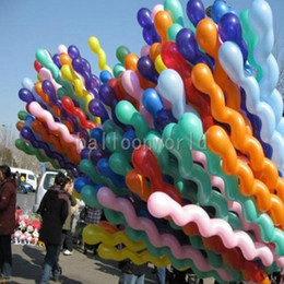 Wholesale Spiral Latex - screw ballons ballon latex wedding decoration spiral helix rille balloon for party,hotel,birthday,carnival freeshipping novelty