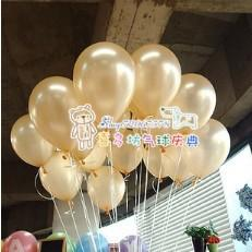 Wholesale Heart Pearl Bag - 10 inches pearl balloon wedding party 100pcs Bag champagne color
