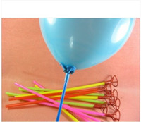 Wholesale Pvc Balloons - Free Shipping 500pcs 40cm Plastic Balloon Holder Sticks Multicolor Cup For Wedding birthday Party Decoration New