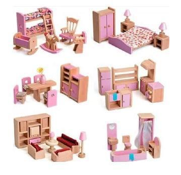 2018 wooden dollhouse furniture sets 6styles construction - Resource furniture espana ...