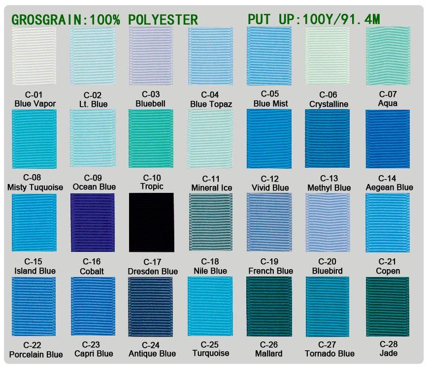 2017 wholesale brand new grosgrain ribbon 100% polyester ~ blue