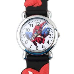 Wholesale Children Analog Wrist Watch - 2016 Children Boys Spider Man Marvel Cartoon Kids Analog Quartz Wrist Watch Rubber New Free Shipping