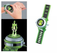 Wholesale Light Projector Toys - New Cartoon BEN 10 Projector Alien Force ULTIMATE OMNITRIX Watch Lights and Sound ben10 Children toys as Gifts Free Shipping