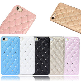 Wholesale Deluxe Leather Chrome Case Cover - New Deluxe Leather Chrome Rhinestone Case Cover For iPhone 5 5S 5G Jecksion