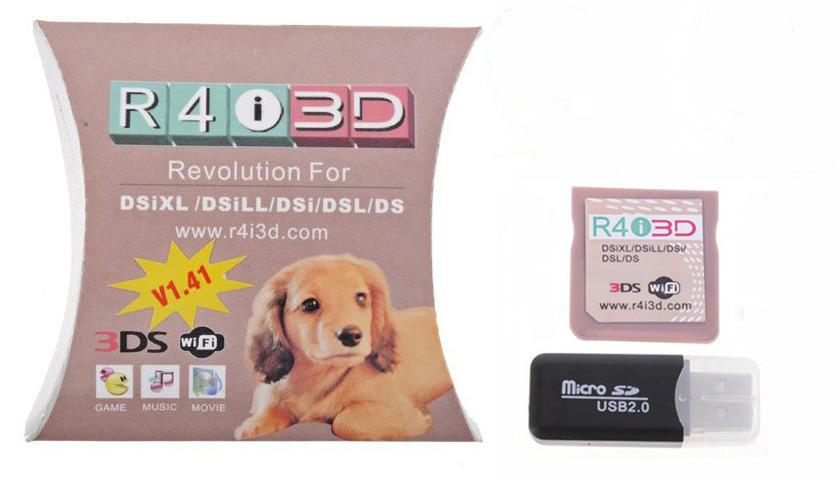 R4i 3D R4i3D 3DS Dog Pack SDHC Revolution For NEW 3DS N3DS Game Flash Cards  For V1 41 Memory Card Readers Memory Card 2gb From Brother Mok, $332 28 