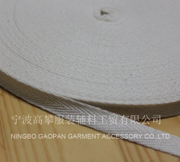 "Wholesale Wholesale Binding - Wholesale-3 8""(10mm) Raw white natral color herringbone  twill cotton tape Cotton webbing Bias binding tape ,50M R, MOQ: 100M"