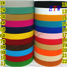 Wholesale Colorful Stretch Belts - Wholesale-The thickening 25mm Colorful Elastic Ribbon 5yards lot, 22 Colors Elastic Stretch Webbing , Belt Material wholesale and retail
