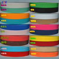 Wholesale Colorful Stretch Belts - Wholesale-The thickening 25mm Colorful Elastic Ribbon 5meters lot, 20 Colors Elastic Stretch Webbing , Belt Material wholesale and retail