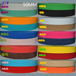 Wholesale Colorful Stretch Belts - Wholesale-The thickening 50mm Colorful Elastic Ribbon 5yards lot, 20 Colors Elastic Stretch Webbing , Belt Material wholesale and retail