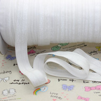 Wholesale Fold Over Elastic Free Shipping - Wholesale-5 8 inch Free shipping High quality Fold Over Elastic FOE WHITE color ribbon headband diy decoration wholesale OEM P2125