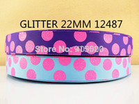 Wholesale Animal Grosgrain Ribbon 22mm - 10Y12487 kerryribbon free shipping 7 8'' (22mm) glitter dot printed ribbon Grosgrain ribbon diy headwear accessories 2 color