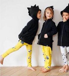 Wholesale Boys Dinosaur Hoodies - 2015 NEW Boys and Girls Cute Dinosaur style Hoodies jacket Children THIN Outwear Spring Autmn Kids clothe