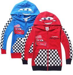 Wholesale New Boys Pixar Cars - 2015 New Pixar Cars Children Boys Autumn Hoodies Jacket Sweatershirt Clothes For Kids Free Shipping Retail