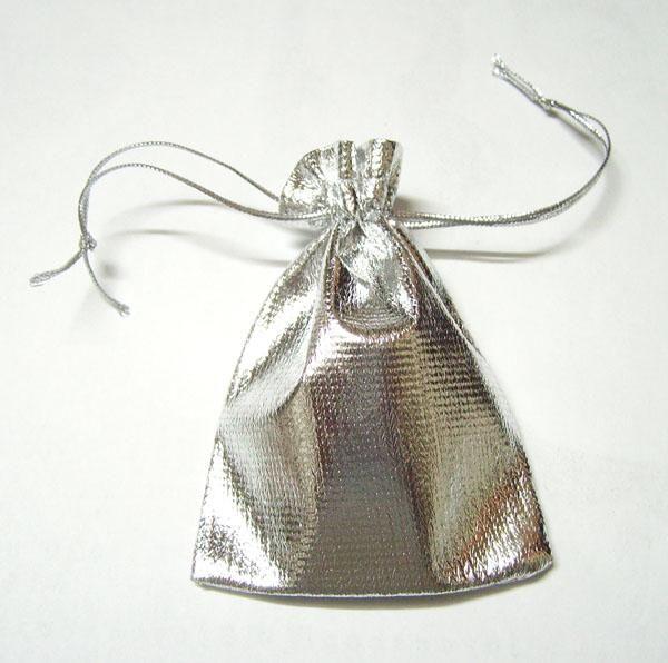 100 Unids / lote Bolsas de Bolso de la Joyería del Color de Plata de Bolsas Para DIY Regalo de la joyería de Moda Envío Gratis W35