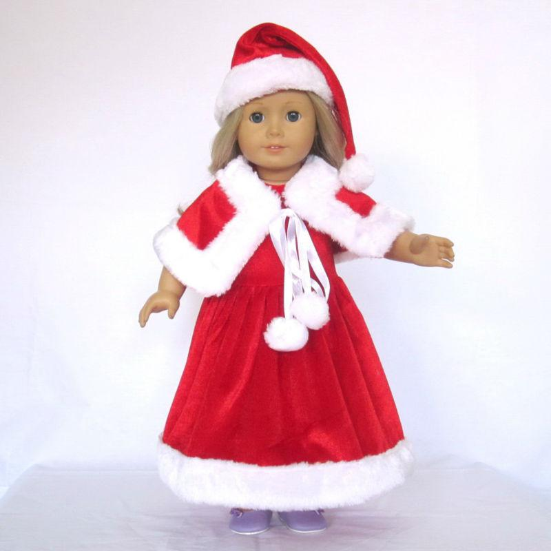 Doll Clothes Fits 18 American Girl Doll, Christmas Outfits, Santa ...