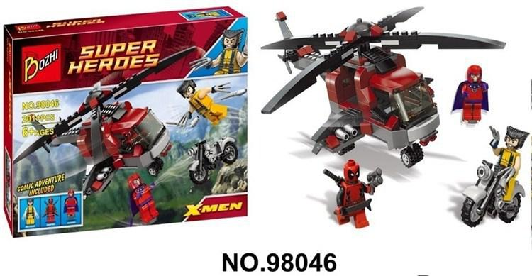 2018 Bozhi 98046 X Men Magneto Wolverines Chopper Showdown