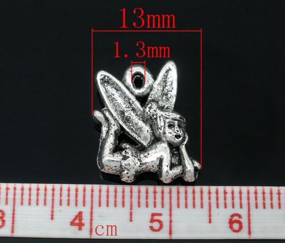 Silver Tone Fairy Charms Pendants 17x13mm