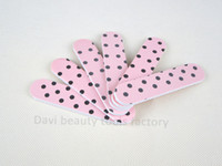 Wholesale Sandpaper Pattern - emery file 100PCS LOT emery board pattern sandpaper mini nail file nail art FREE SHIPPING #SC0331-07