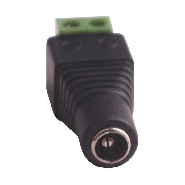 CCTV hembra UTP Jack de alimentación Cable adaptador DC / AC 2, Cámara Video Balun Conector