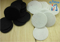 Wholesale felt circles wholesale - Wholesale-Free shipping! Free shipping multiple color for select 2.5*2.5cm Round Felt white and black patch, good circle felt pads,