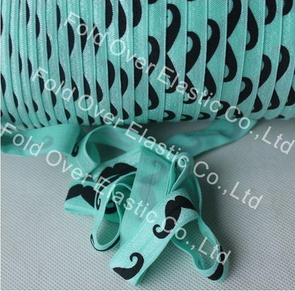 2018 wholesale 314 aqua fold over elastic ribbon for headwear