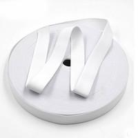 Wholesale Wholesale Webbing Rolls - Wholesale-Alipress 10Meters roll 2CM Width White Black Elastic Webbing Band For DIY Pants Garment Sewing Scrapbooking Bias Binding 1-020