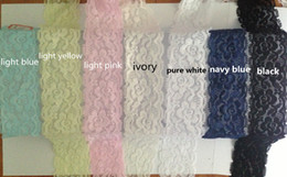 """Wholesale Elastic Stretch Lace Trim - Wholesale-10meter 21colors 1 4 7"""" 4cm width elastic stretch lace trim rose flower pattern lovely for Headband , wedding lace ."""