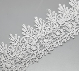 "Wholesale White Edge Trim - Wholesale-Sewing Accessories 5 Yards(about 4.6M) White Lace Edge Trim 3-1 8"" wide"