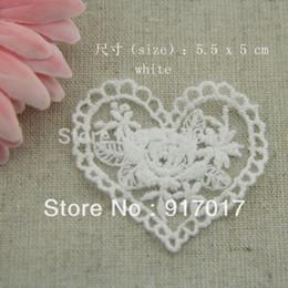 Wholesale White Lace Flower Appliques Wholesale - Wholesale-Free Shipping 50pcs 5.5X5cm(LCS19B)White Embroidery Flower Applique Wedding Accessories Bridal Veil Lace