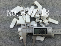 Wholesale Bra Metal Accessories - 20mm buckle clips 30pcs lot white sexy Metal buckle Durable bra Straps brief adjustable metal suspenders garter buckle clips