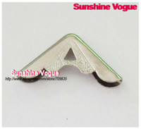 Wholesale Quilt Collar - Metal Collar angle cover shirt collar corner,Corner Brackets 18mm silver DIY angle accessories for book bags collar, 100pcs lot