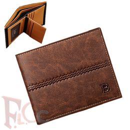 Wholesale Multipurpose Purse - Top quality men wallet PU Leather Fashion Vintage Short Design Wallets for men multipurpose men purse black,brown, blue wallets