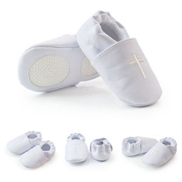 Wholesale Hot Selling Baby Shoes - Hot Selling Babies Cross Baptism Christening Shoes Church Soft Sole Unisex Leather Shoes &Drop shipping