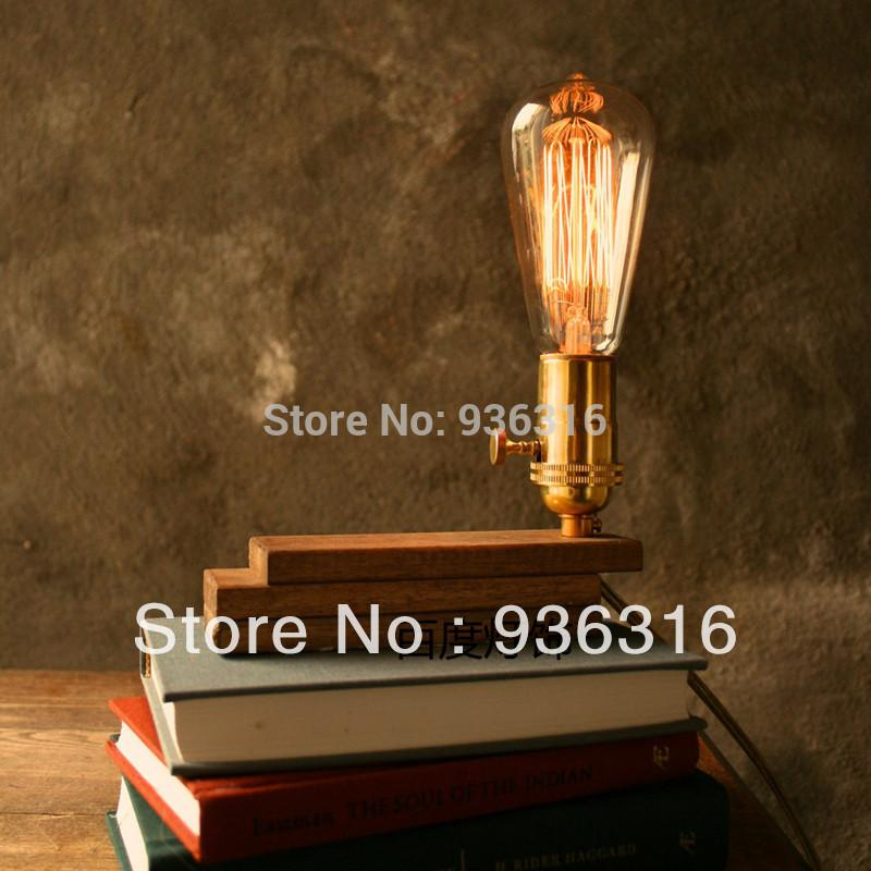 2018 Edison Bulb Lamp Vintage Lamp Dimming Plywood Table Lamp Diy ...