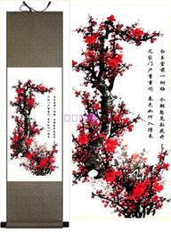Wholesale Gift Silk Painting Chinese - Gift Silk Painting Chinese Painting Decorative Scroll Painting Wall hanging Painting 1pcs Free