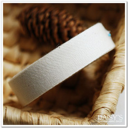 Wholesale Wholesale Webbing Rolls - Free shipping! The thicken natural tape 20mm, webbing tape,Cotton Ribbon 50m Roll Garment accessory