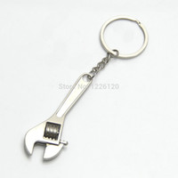 Wholesale Tools Car Spanner - W110 New Arrive Mini Cute Metal Adjustable Creative Tool Wrench Spanner Key Chain Ring Keyring Wholesale