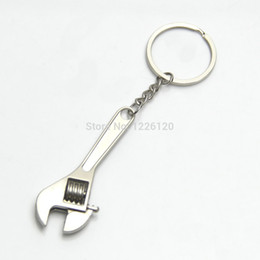 Wholesale Cute Crystal Key Chain - W110 New Arrive Mini Cute Metal Adjustable Creative Tool Wrench Spanner Key Chain Ring Keyring Wholesale
