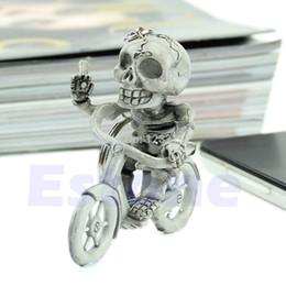 borsa della catena di gomma Sconti L109New Fashion Creative Bike Skull Purse Bag Gomma portachiavi portachiavi regalo portachiavi