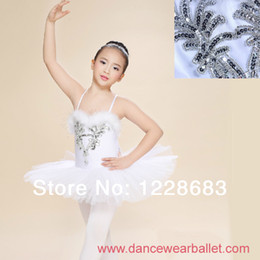 Wholesale Women Zebra Costume - Wholesale-Free Shipping Children Elegant Classic White Swan Lake Perform Stage Dress Dance Ballet Tutu Ballet Costume